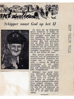 Willem Los, eerste schipper van de BIA met pensioen