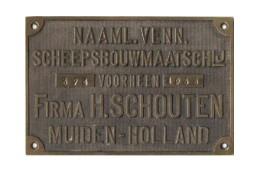Bouwplaat met bouwnummer 324 anno 1933