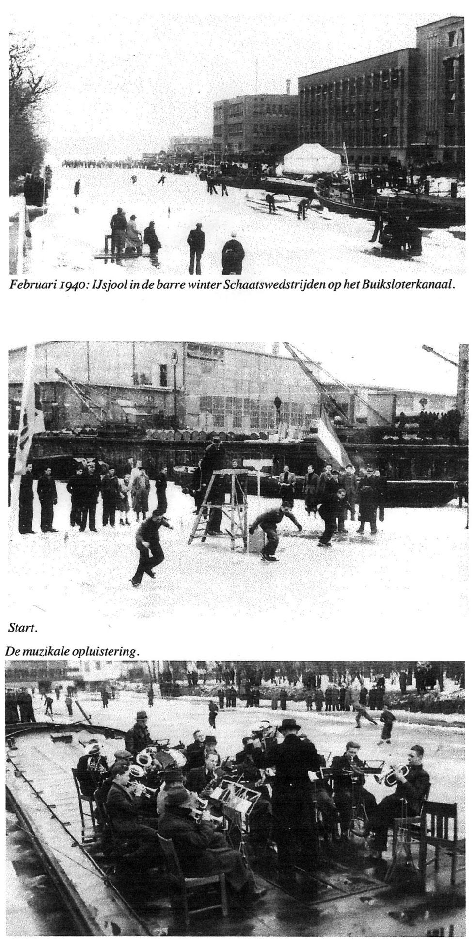1940 Schaatswedstrijden op het Buiksloterkanaal